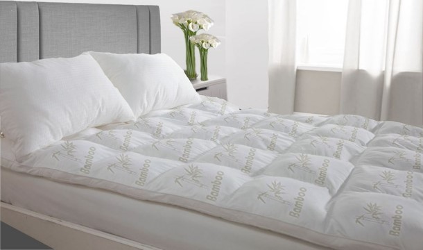 Niagara Sleep Solution Bamboo Mattress Topper Queen 🧡with